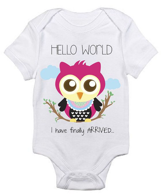 8e5ae0ad7 This cute owl onesie would be great for your newborn as a coming home outfit  at