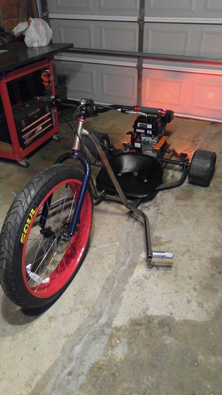 Drift trike homemade Motorcycle Drifting, Trike Motorcycle, Bike Drift, Drift Trike Motorized,