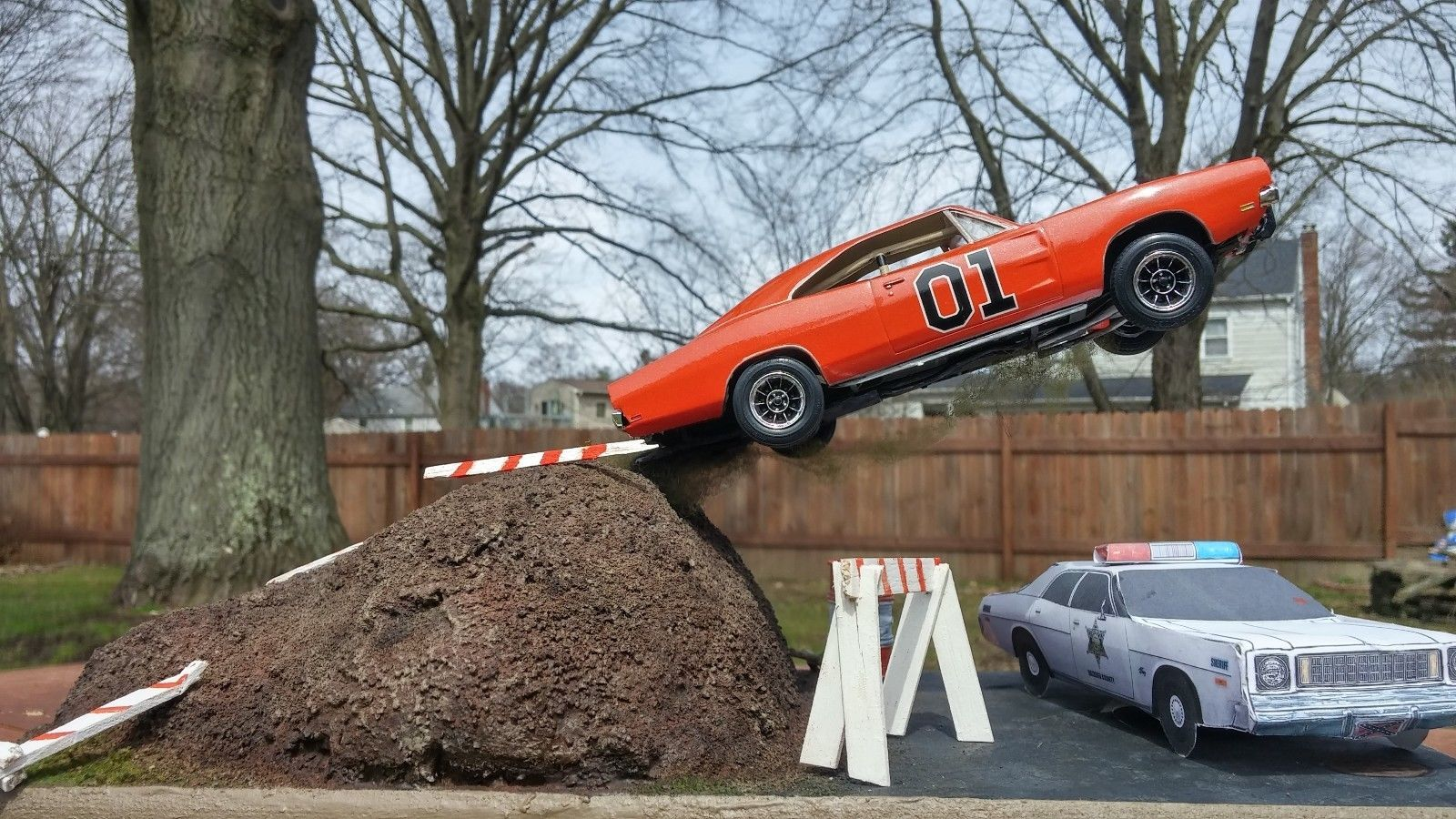 1 25 Scale General Lee Diorama Dukes Of Hazzard Ebay General