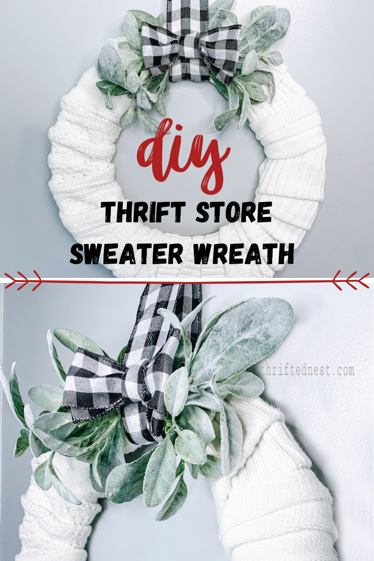 DIY Sweater Wreath | Thrift Store Upcycle