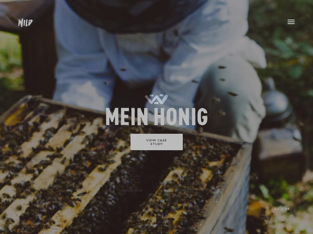 The website 'http://wild.as/meinhonig' courtesy of @Pinstamatic (http://pinstamatic.com)