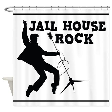 Jail House Rock Elvis Presley Shower Curtain On Cafepress Com