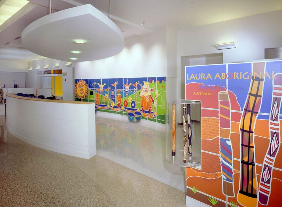 Interior, Bright And Colorful Doctoru0027s Office Interior Designs: Cincinnati  Childrens Hospital Waiting Room With