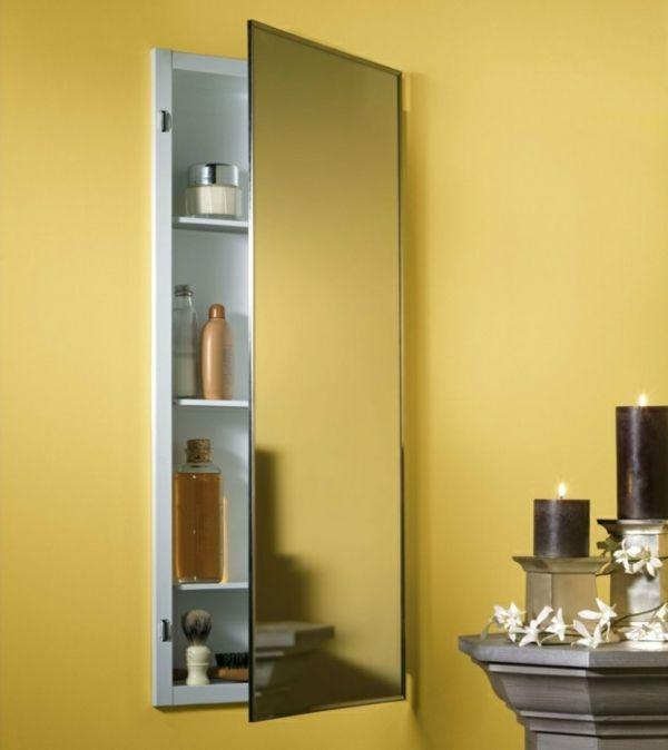 spiegelschrank bad wandschrank badezimmer mehrere regale kerzen - badezimmer wandschrank