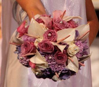 Purple, Lavendar & Crystal Bouquet in Las Vegas NV, Flowers By Michelle