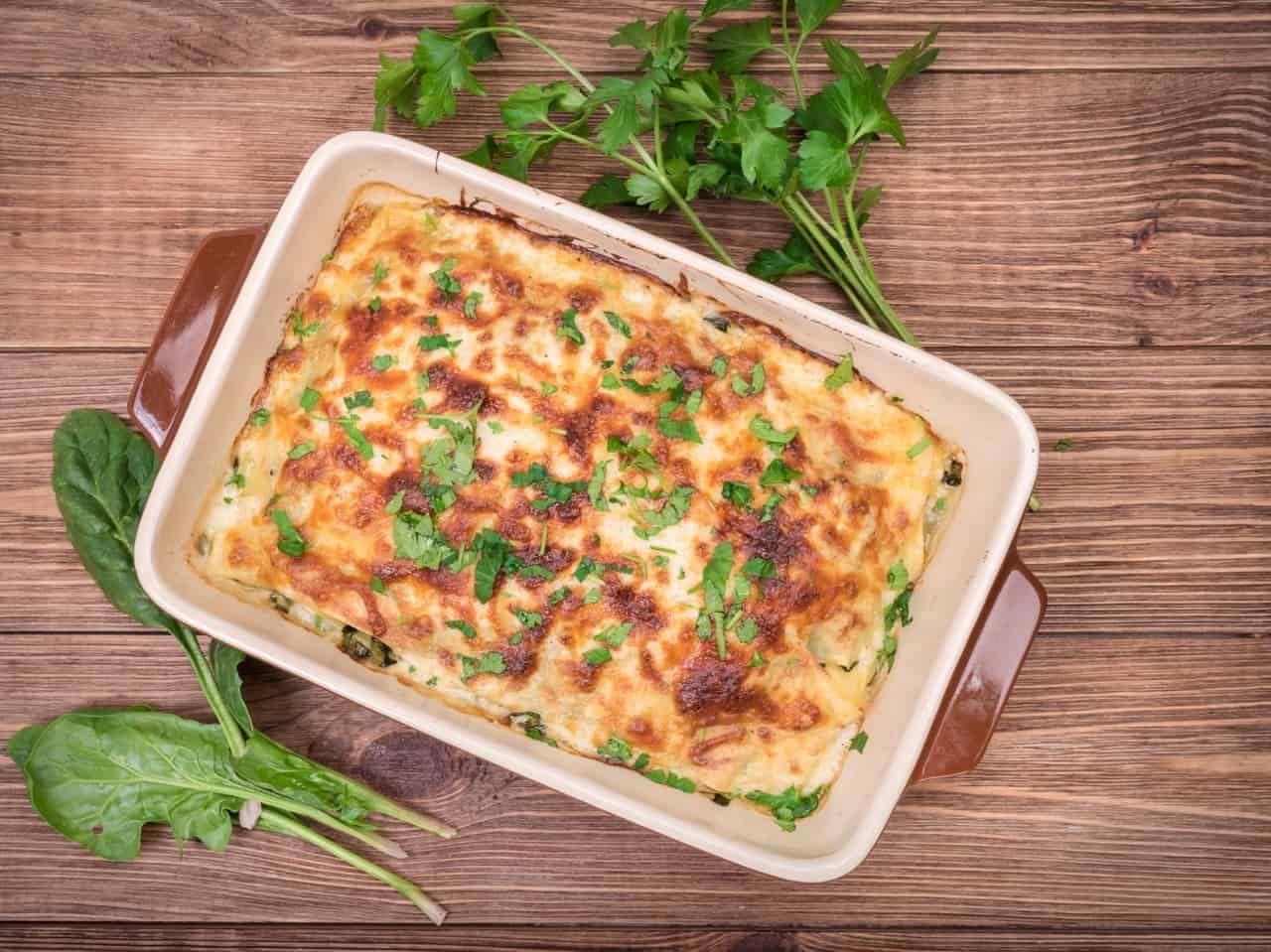 Spinat-Feta-Auflauf low carb: schnelles und gesundes Rezept #lowcarbveggies