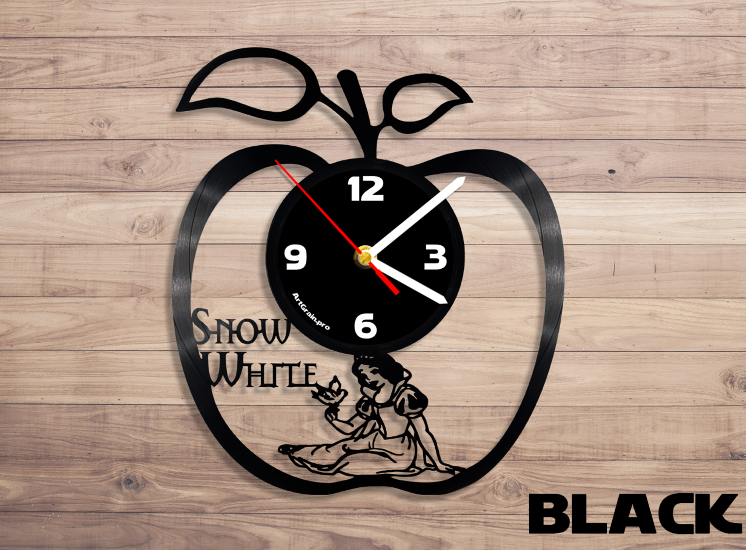 Vinyl record clocks at theclockstop silhouette die cut home accessories snow white disney vinyl record wall clock a unique product by denisvin on dawanda amipublicfo Choice Image