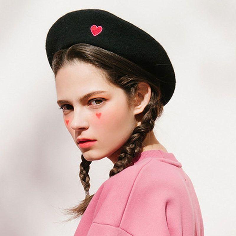 a1dcded6 French Black Beret Vintage Fashion Cloth Women Winter Hats Artist Wool Caps  #Beret #womensfashion #winterfashion