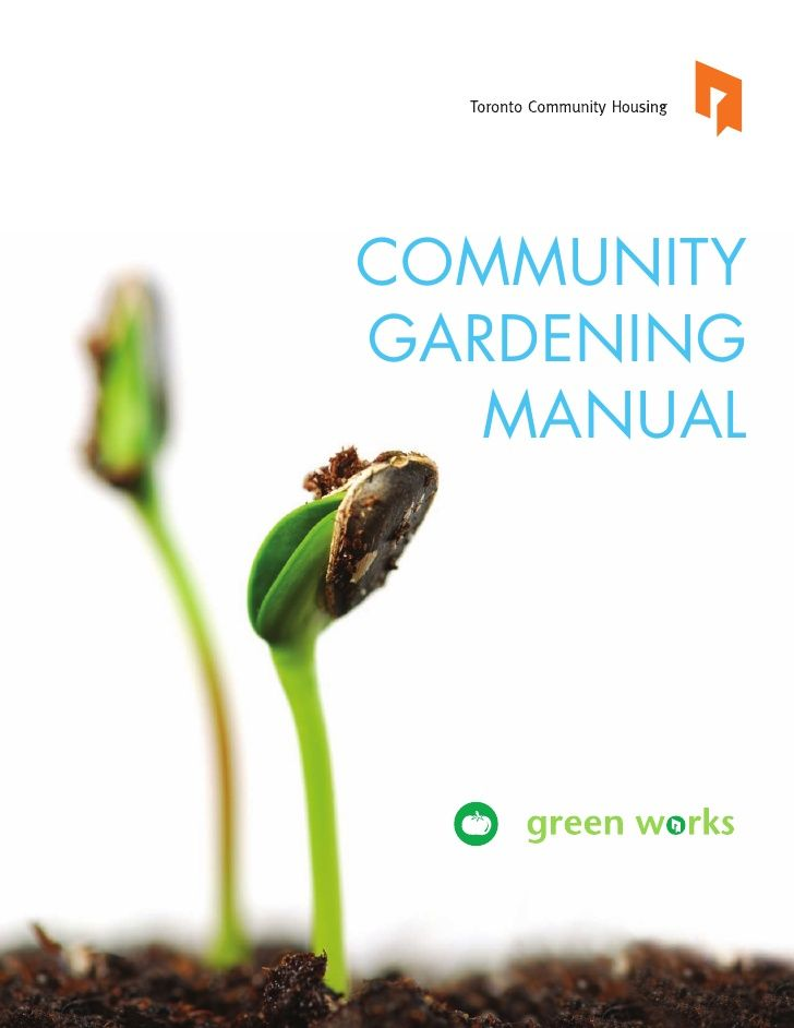 Community Gardening Manual Toronto by GeoAnitia via slideshare
