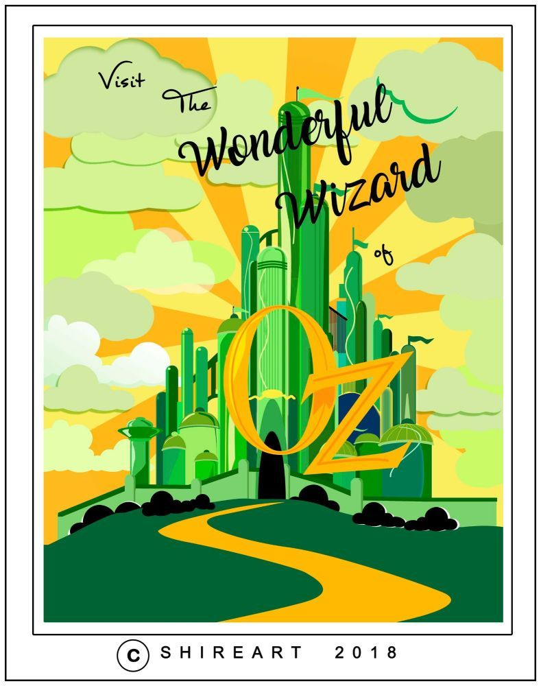 Wizard of Oz Emerald City Travel Poster | Stuff to Buy | Pinterest ...