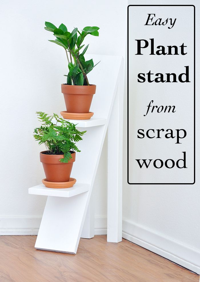 Two Tiered Plant Stand Using Scrap Wood Woodworking Projects Diy