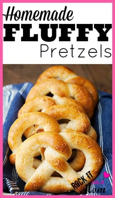 Make these homemade fluffy pretzels with the kids, and enjoy the buttery goodness when you're done! SO GOOD! :)