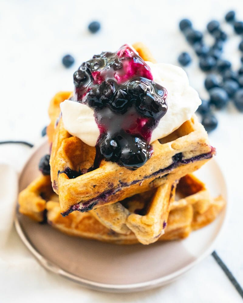 Favorite blueberry waffles recipe blueberry waffles