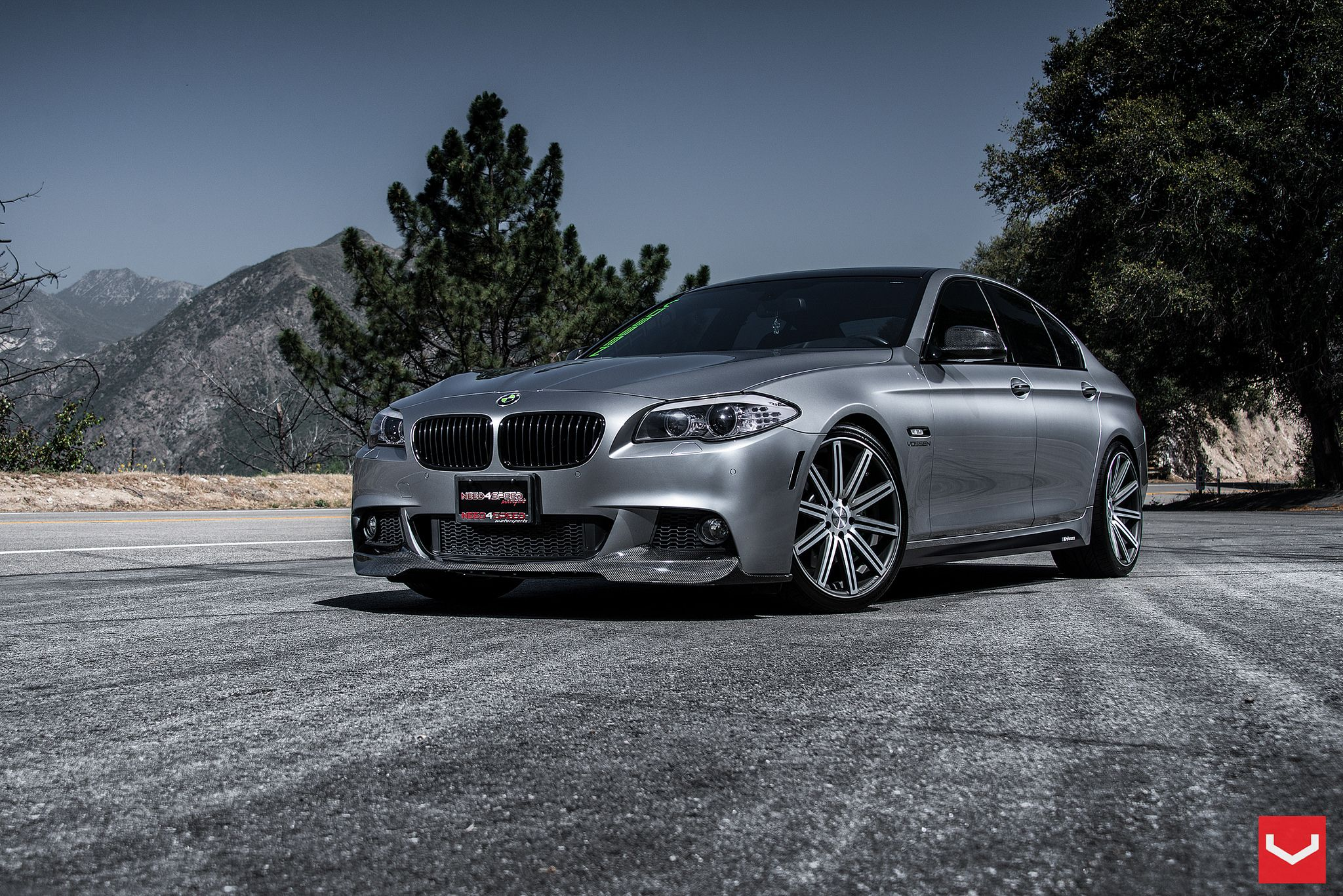 Bmw f10 5 series on vossen wheels