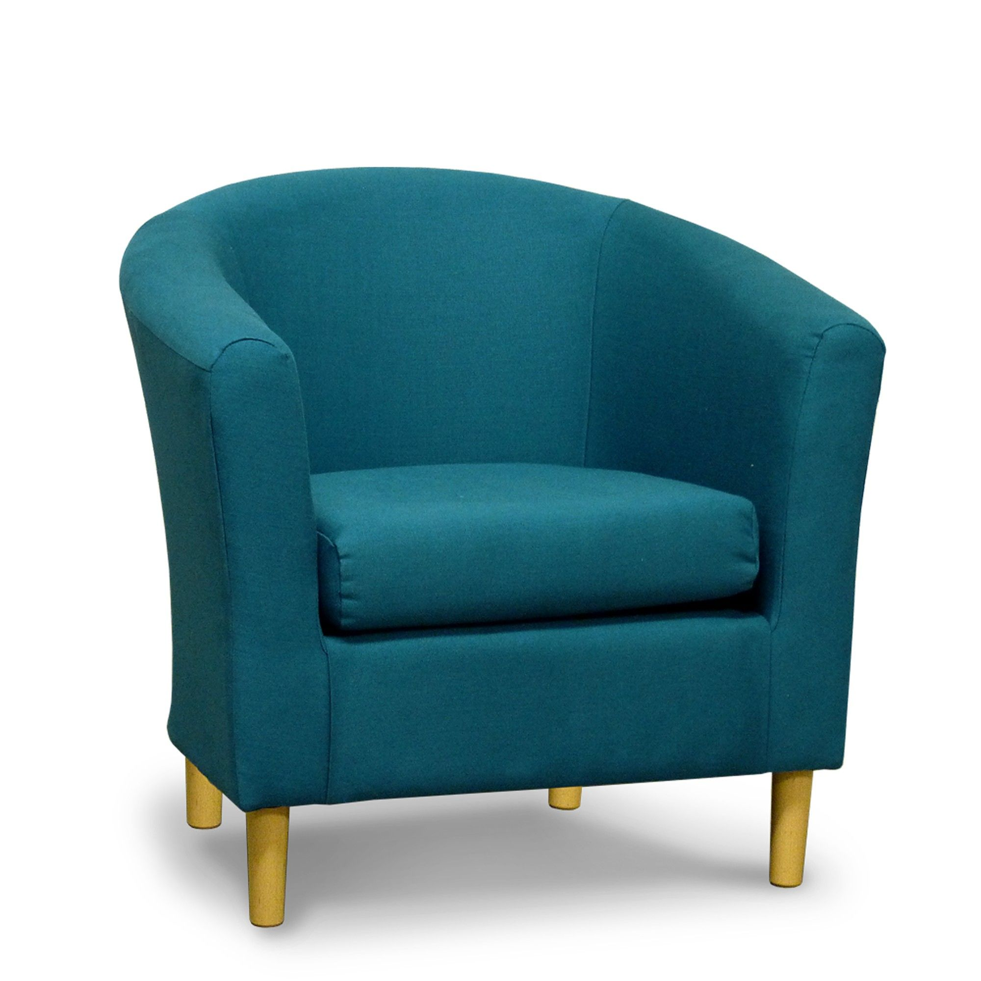 Teal Fabric Tub Chair 45 For the Home Pinterest