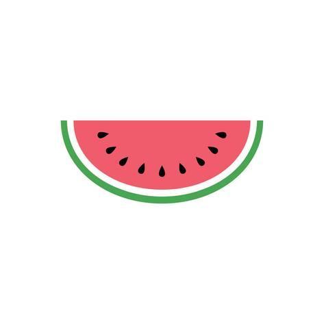 Watermelon Icon Simple Design Watermelon Icon Clip Art Clipart Cartoon Fruit Icon Art Print Tivanova Art Com Watermelon Drawing Watermelon Painting Fruits Drawing