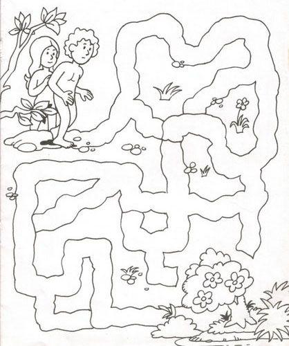 laberintos Adán y Eva   foami personajes biblicos   Pinterest ...