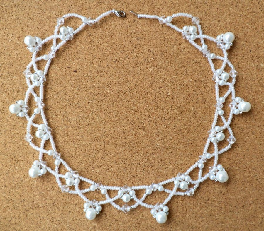 Free pattern for necklace Winter | Jewelry Patterns | Pinterest ...