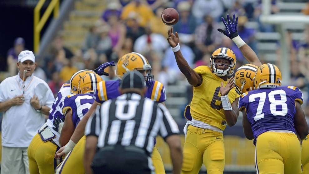 Photos Nfl Stars Odell Beckham Jr Jarvis Landry Oh And Lsu S Leonard Fournette Stand Out At Spring Game Beckham Jr Odell Beckham Jr Lsu Football