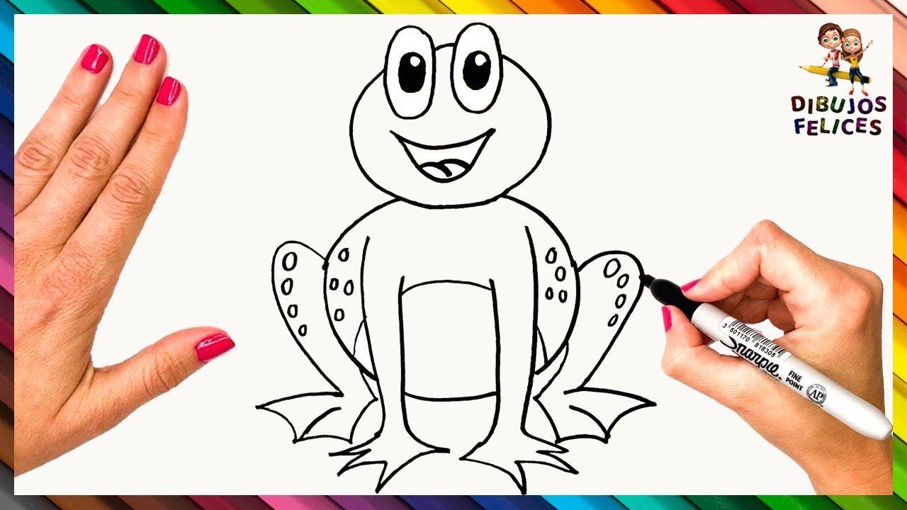 Como Dibujar Una Rana O Sapo Paso A Paso Y Facil Como Dibujar Un Sapo Como Dibujar Tutorial De Dibujo