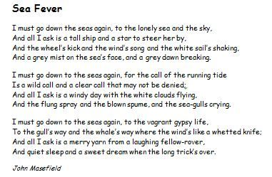 Sea fever by john masefield pdf viewer