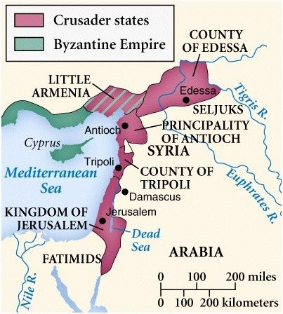 Crusader States Map   Maps   Pinterest   Crusader states, Knights