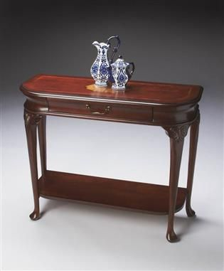 Plantation Cherry Wood Console Table W Drawer