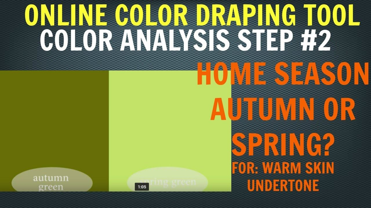 Color Analysis Test Step #2 For Warm Skin Undertone: Autumn Color Palett...