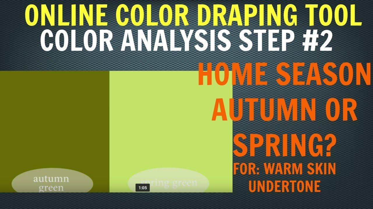 Color Analysis Test Step #2 For Warm Skin Undertone: Autumn Color Palett...
