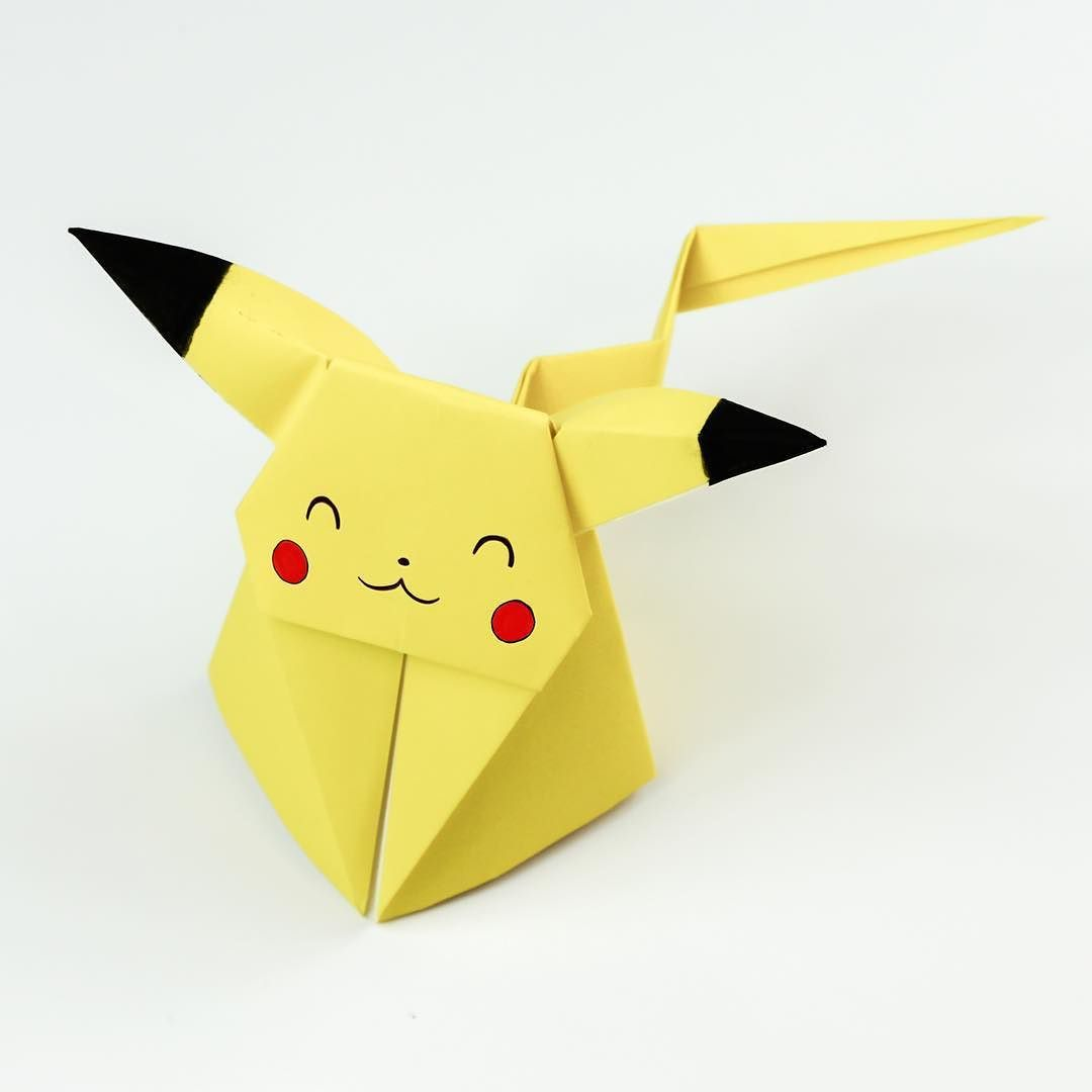 Origami Pikachu Tutorial Cute Pokemon Ollies 4th Animals Dachshund Paper Folding Diagram My First Good Came Out Well