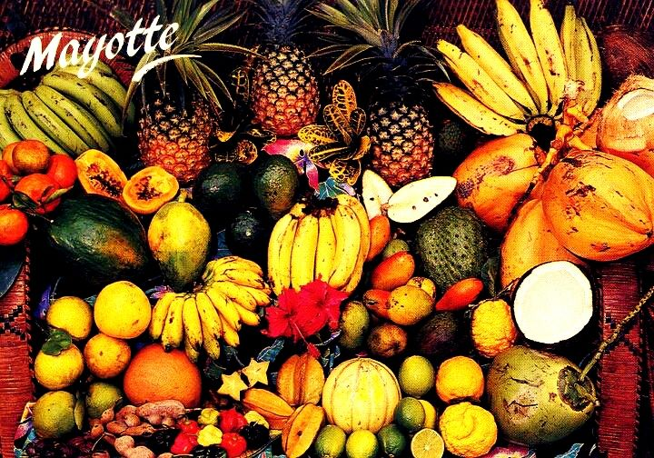 Fruits Et Legumes De Mayotte Comoros Islands Africa African