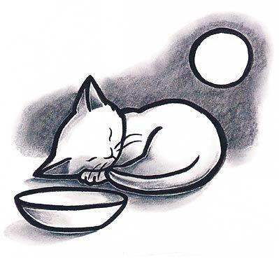 Kevin Henkes And Kitten S First Full Moon Simple Elegant Beautiful Kittens First Full Moon Kitten Drawing Kitten Art