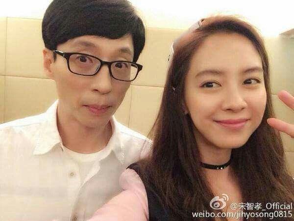 Yoo In Suk Update: Song Ji Hyo Weibo Update With Our National MC, Yoo Jae Suk