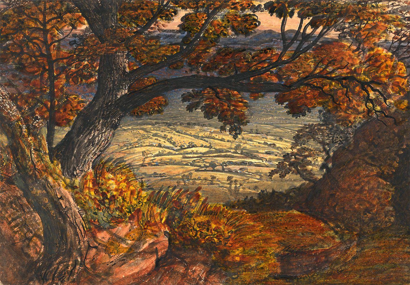 """The Weald of Kent,"" by Samuel Palmer (1833-1834)"