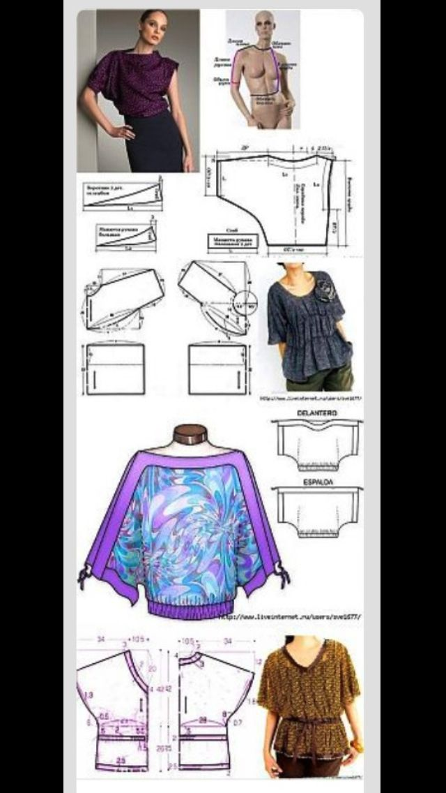 Costura blusas   Sewing projects   Costura, Ropa, Patrones