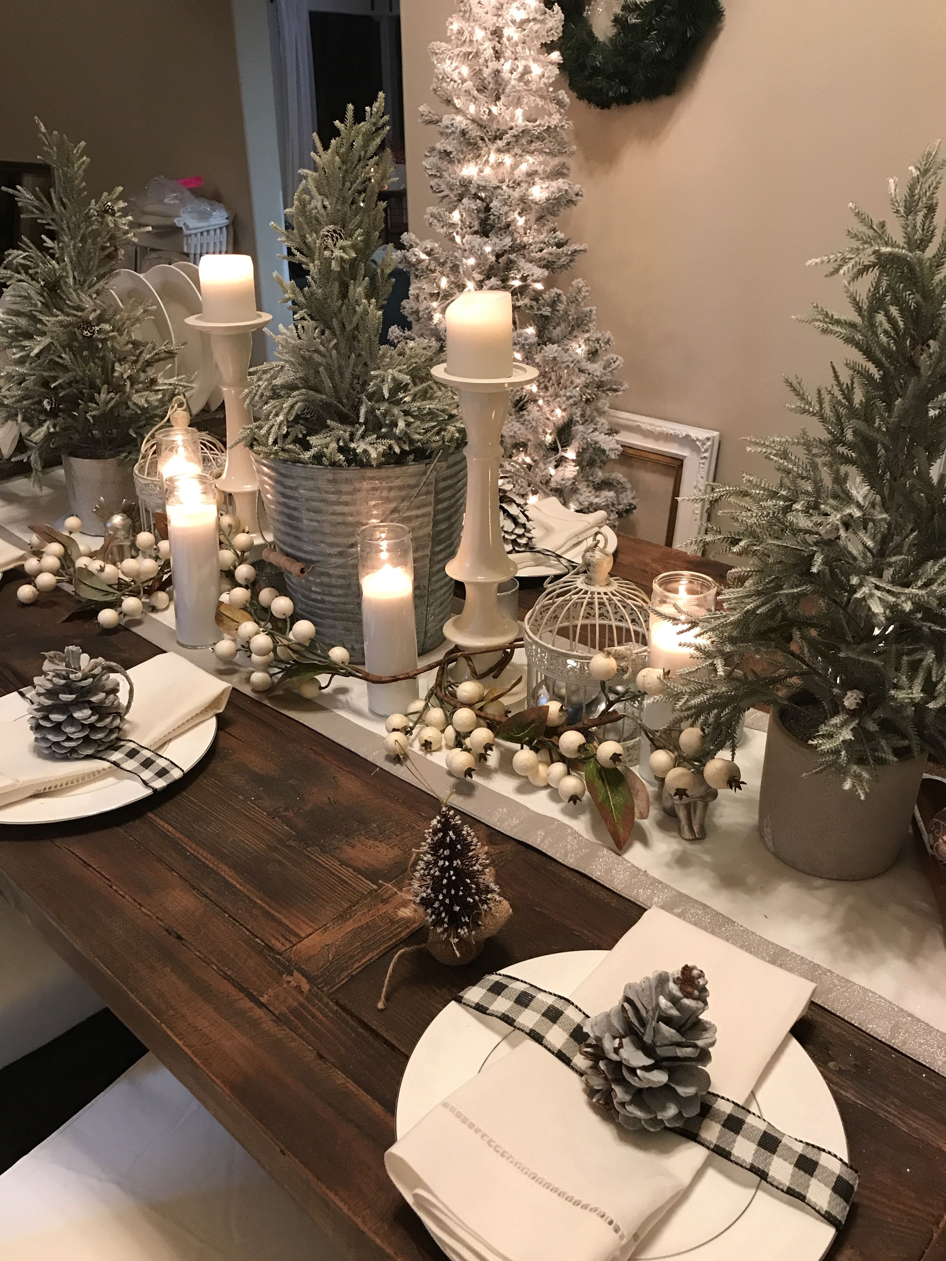 Pin By Judy Zachow On Holiday Decorating In 2020 Christmas Table Centerpieces Indoor Christmas Decorations Christmas Table Decorations