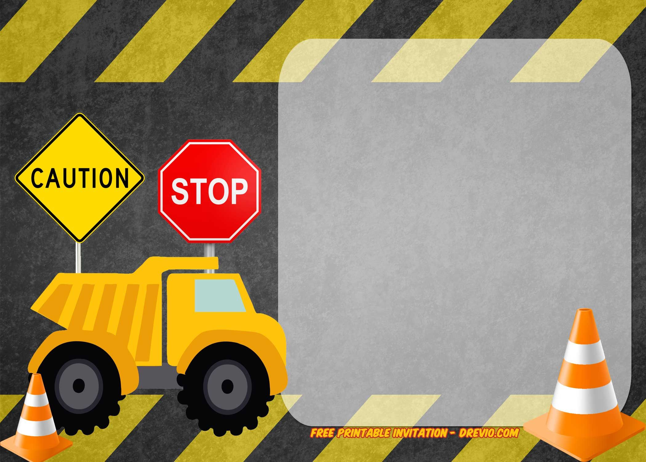 free printable construction vehicles