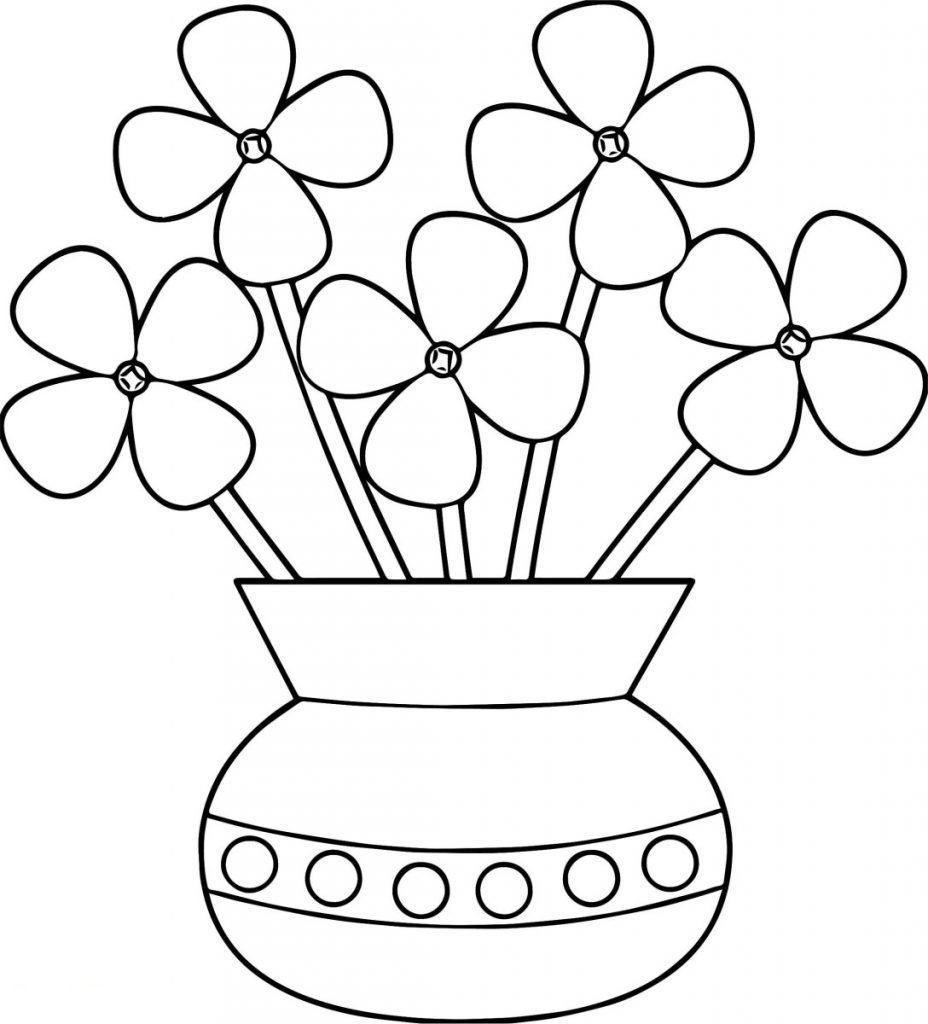 Flower Pot Coloring Pages Best Coloring Pages For Kids Printable Flower Coloring Pages Flower Coloring Sheets Flower Coloring Pages