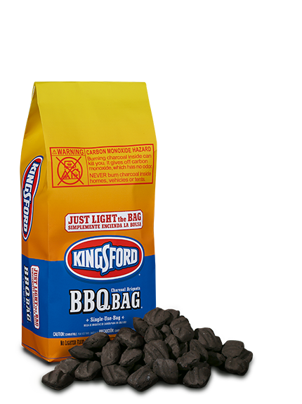 Just Light The Bag Kingsford Bbq Single Use Charcoal Briquets Allow You To Grill Almost Anywhere As Long Don T Forget A Match
