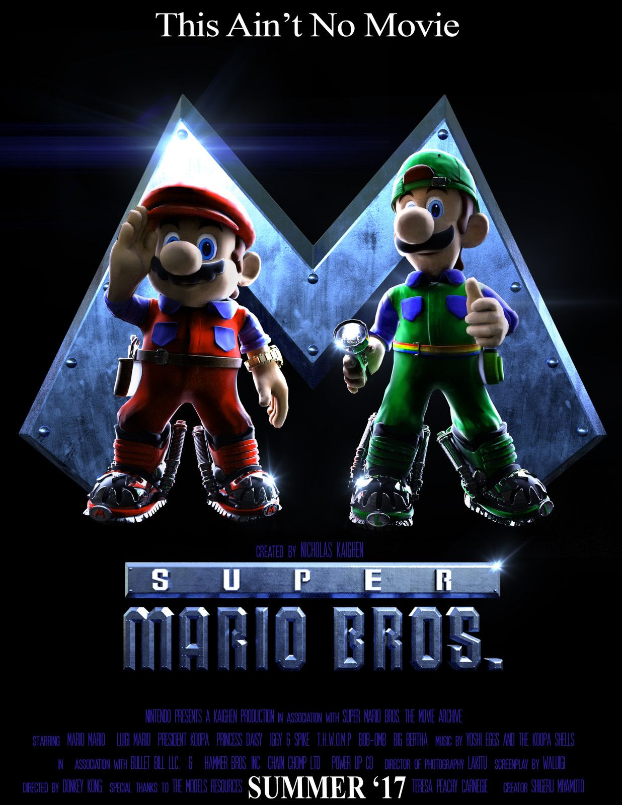Super Mario Bros The Movie The Game Nicholas Kaighen Mario
