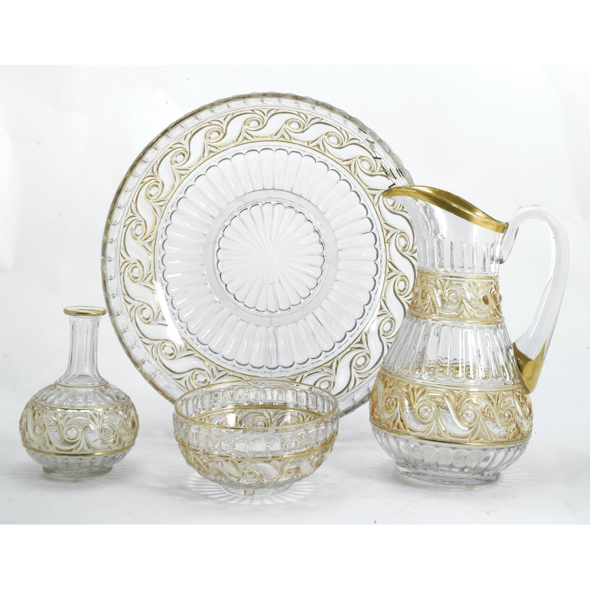 A group of Baccarat glass wares late 19th Century