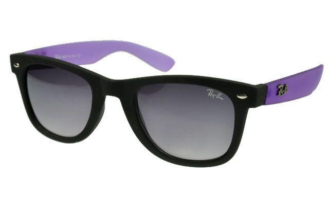 7b7256a12ba1 ... greece ray ban wayfarer sunglasses purple black frame gray lens save  off 092e4 c3931