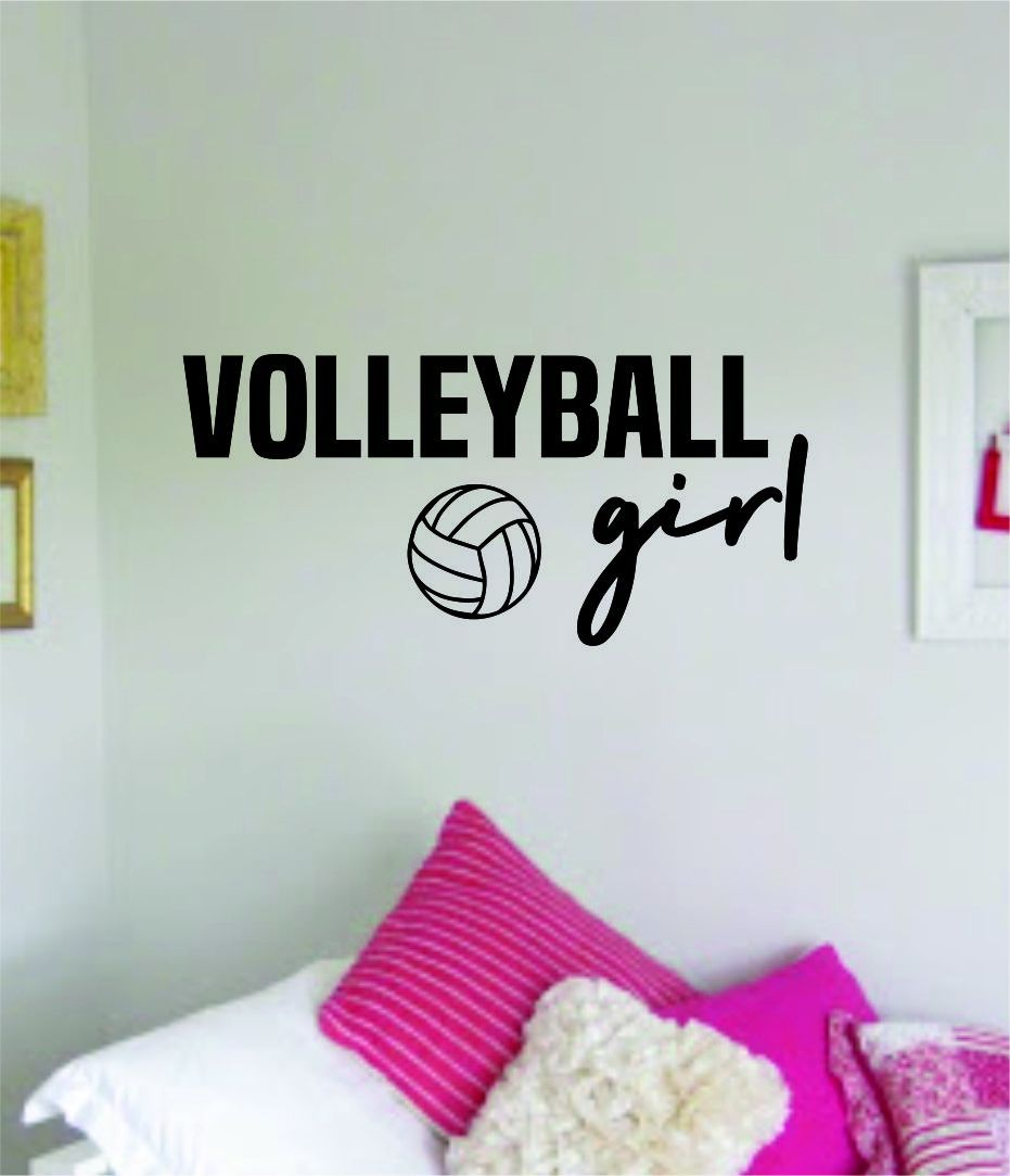 Photo of Volleyball Girl Wall Decal Sticker Vinyl Art Bedroom Room Home Decor Quote Ball Teen Baby Nursery School Fitness Inspirational Sports Beach – teal