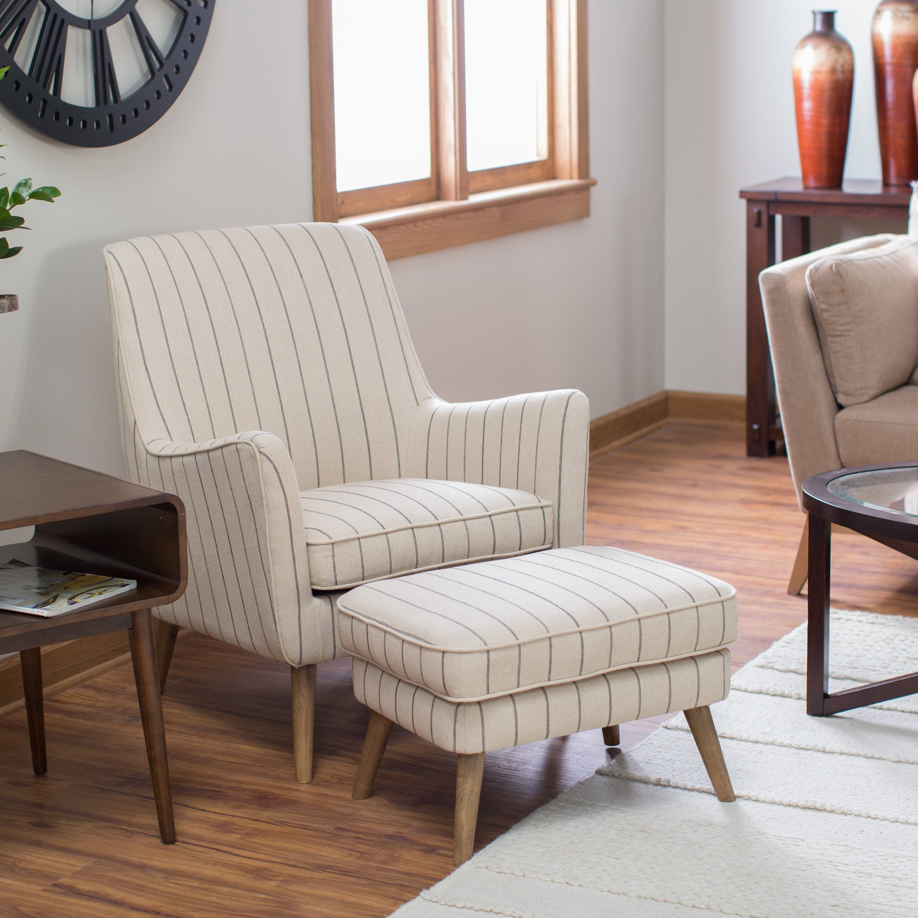 Belham Living Lennon Arm Chair And Ottoman From Hayneedle Com