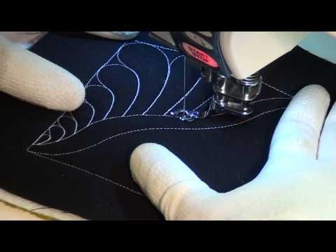 48. Learn how to Free Motion Quilt Pearled Feather, #400
