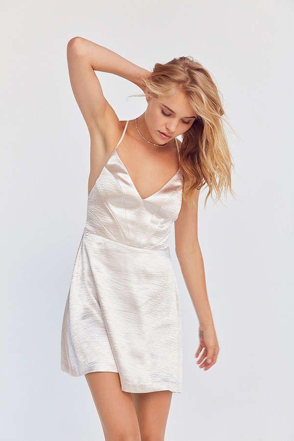 Kimchi Blue Tatiana Satin Fit + Flare Dress