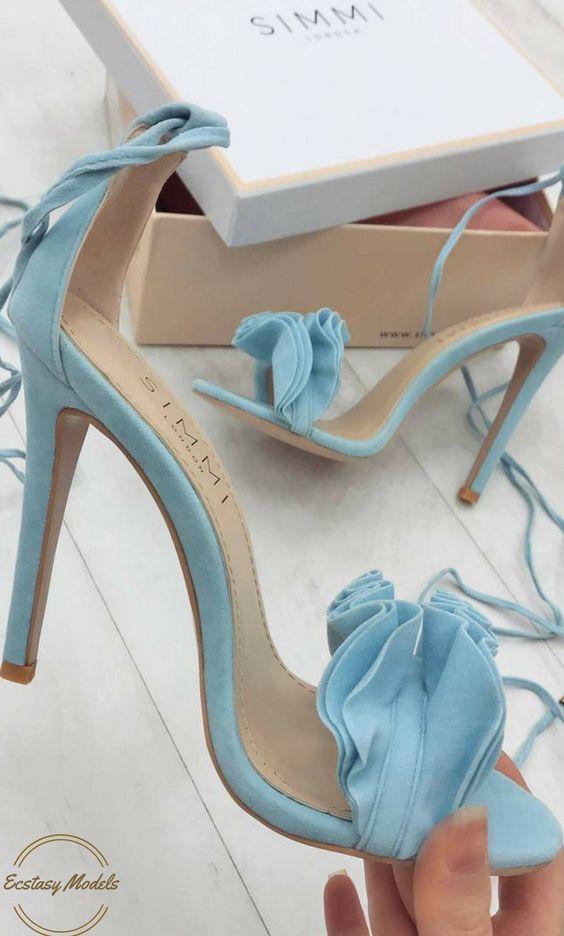 Models Baby Blue Heelsblue