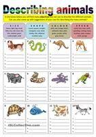 Describing animals (adjectives)