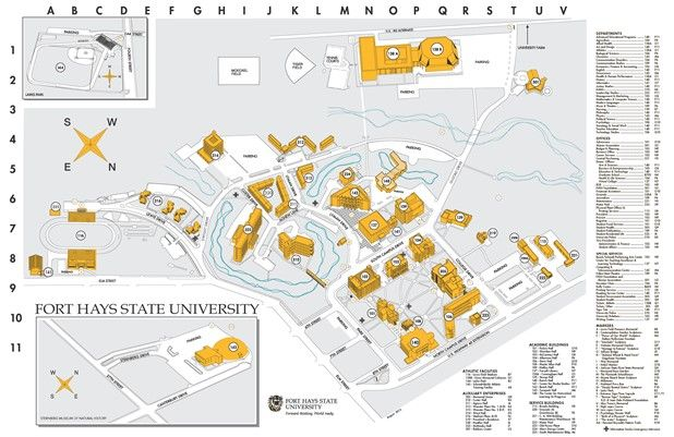 Heidelberg University Campus Map.Fhsu Campus Map Hays Ks Education Pinterest Campus Map