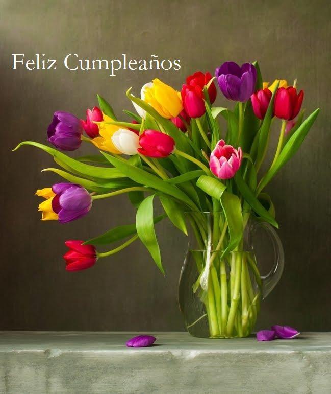 Feliz Cumpleaños Felicidades Feliz Cumpleaños Flores Feliz